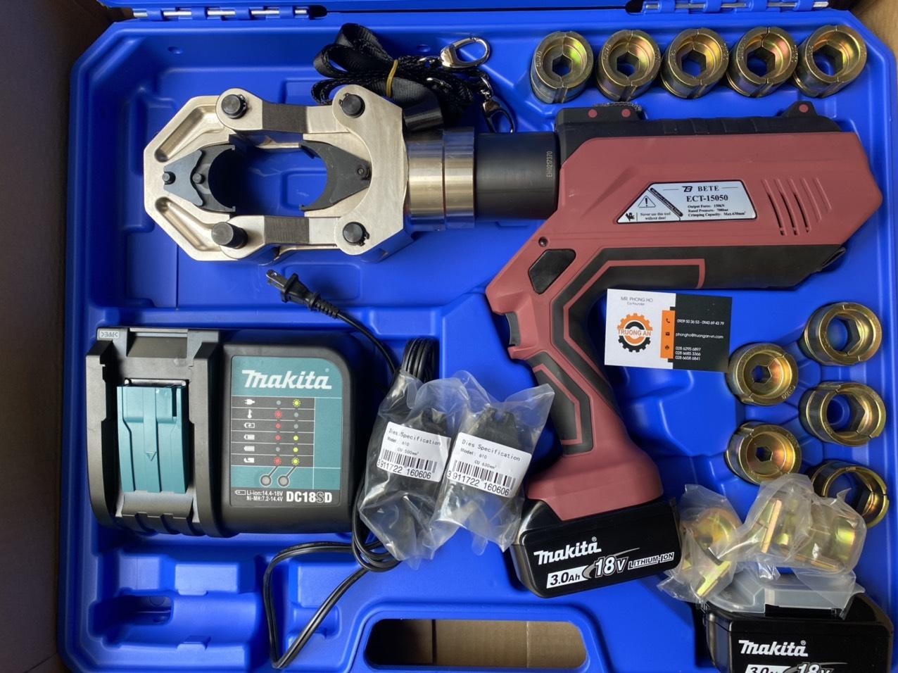 Kìm ép cos ( cốt) thuỷ lực dùng pin 15 tấn - ECT-15050
