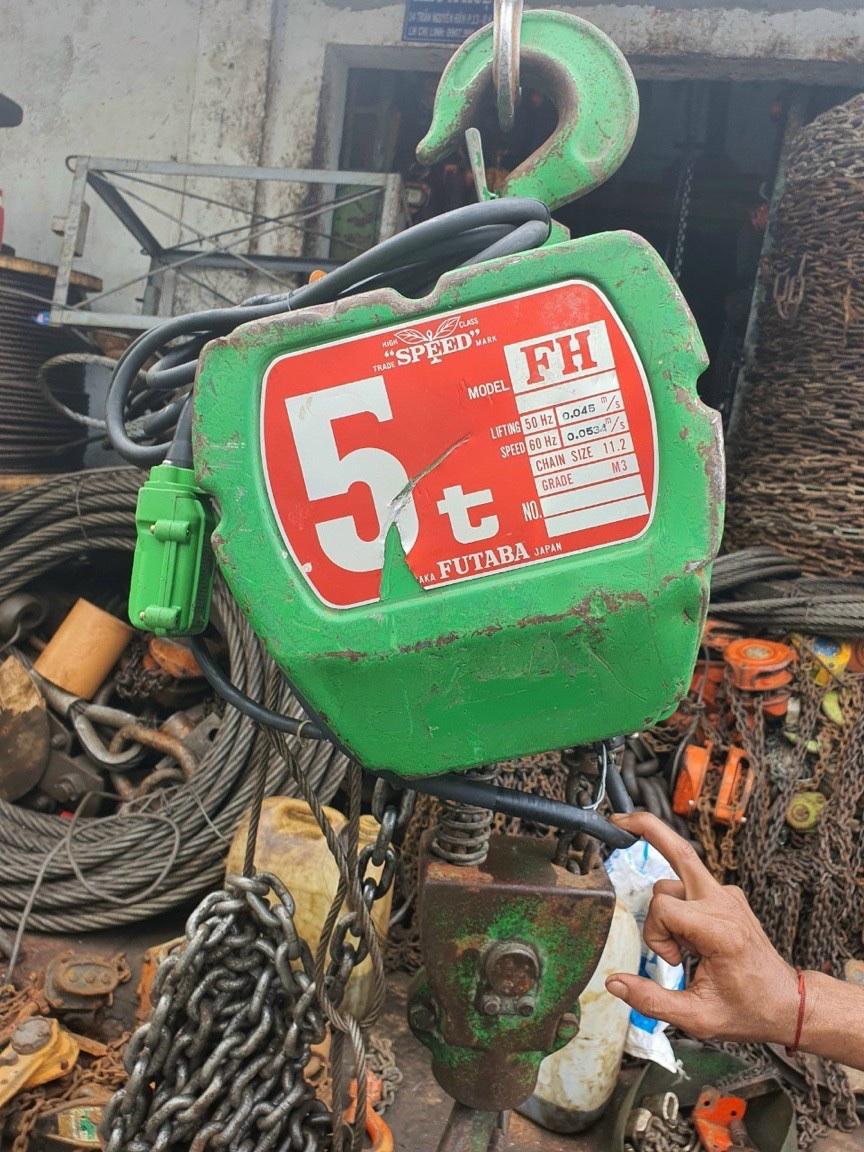 Palang điện 5 tấn - Dùng điện 3 pha 380v