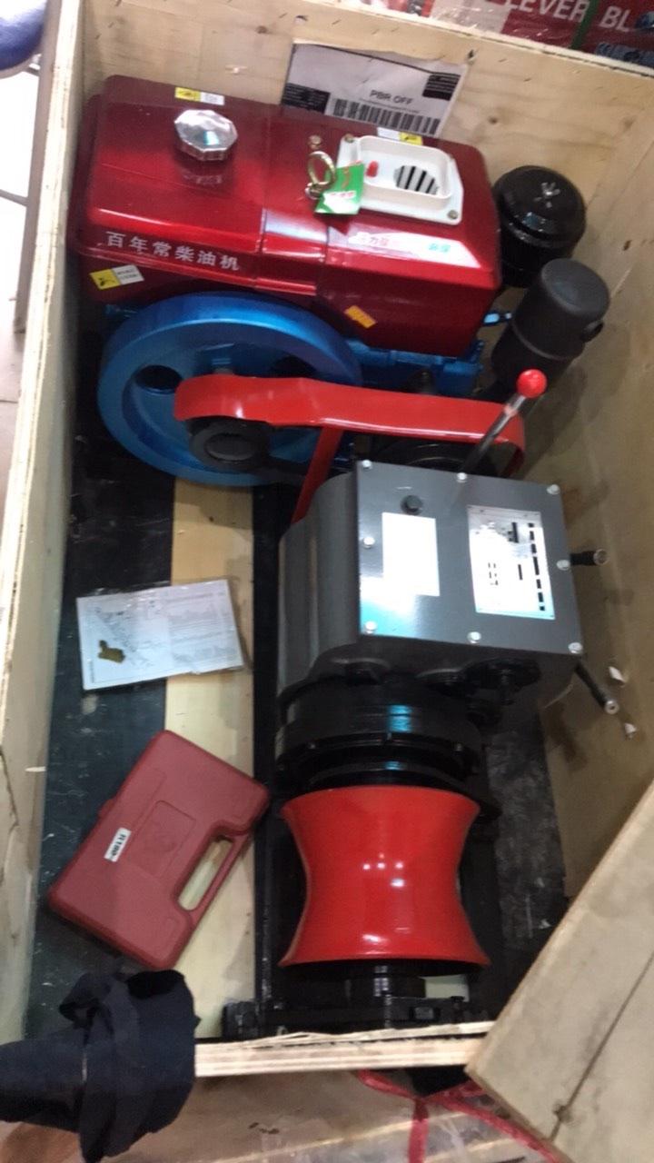 Tời Kéo Cáp Động Cơ Dầu Diesel JM50